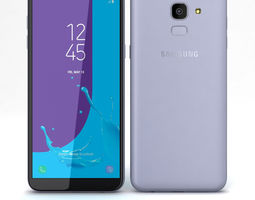 3D model Samsung Galaxy J6 2018 Grey