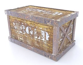 Old Metal Box Post Apocalypse Property 3D asset