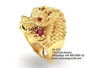 3D printable model 812 Dragon Ring with support