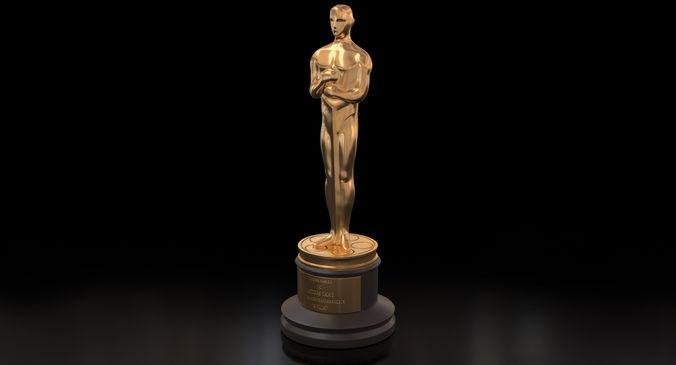 3d academy award oscar statue cgtrader