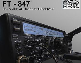 3D model Yaesu FT 847 HF UHF ALL MODE TRANSCEIVER