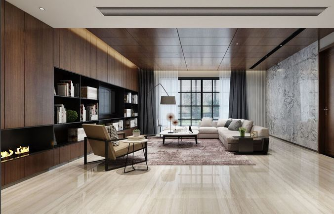 Modern Livingroom Model Max Obj Mtl S Fbx Stl Abc