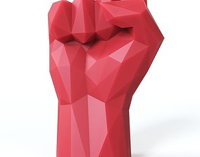 3D model VR / AR ready Hand Fist Low Poly