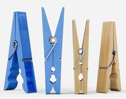 Clothespins 3D model