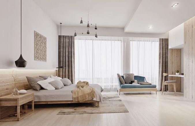 modern bedroom  3d model max obj mtl 3ds fbx stl abc 1