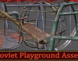 Soviet Oldschool Playground 3D asset