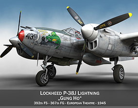 Lockheed P-38 Lightning - Gung Ho us 3D model