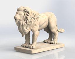 Lion - king of beasts - brave man 3D asset