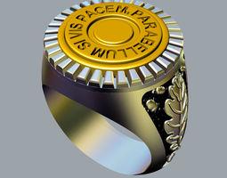 3d printable model ring si vis pacem para bellum