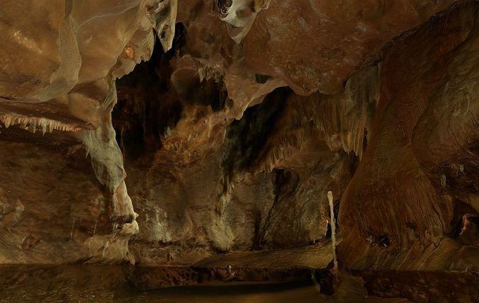 natural cave in spain - cova del orgui 3d model obj mtl gltf glb 1