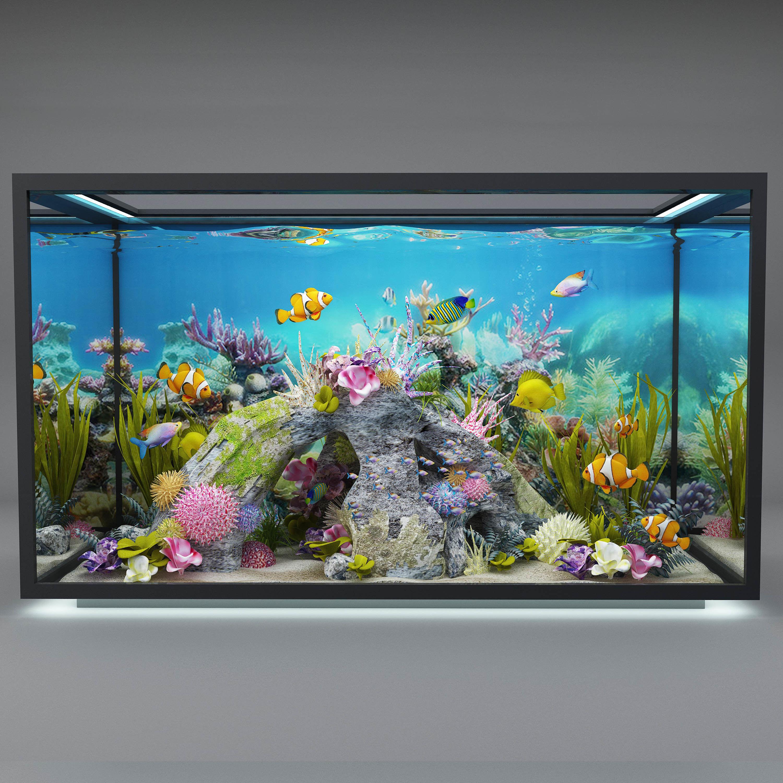 Verbazingwekkend modern aquarium 3D model | CGTrader PQ-25