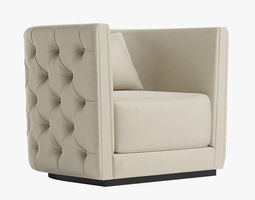 3D model LEANDRO Armchair By Opera Contemporary