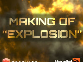 Creating a simple explosion in Houdini and Redshift. Timelapse.