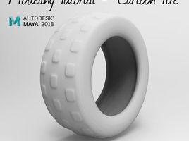 3D Modeling Tutorial - How to model a cartoon Tire in maya 2018
