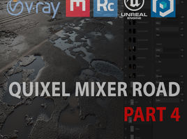 Quixel Mixer road in UE4 and 3ds max. Part 4. Export into Unreal Engine 4.