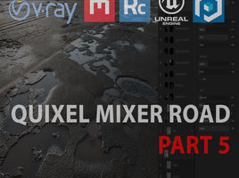 Quixel Mixer road in UE4 and 3ds max. Part 5. Blend Material creation in Unreal Engine 4