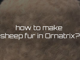 How to make a curled wool for sheep in Ornatrix?