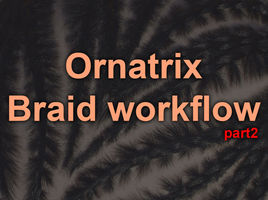 Ornatrix Maya. Curves From Strands. Width guides. Smooth and comfortable combing in Maya.