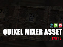 Export EXR file from 3D-Coat to create a brush in Quixel Mixer. Texturing an asset.