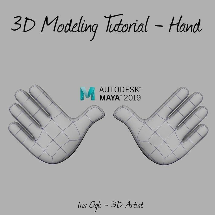 3D Modeling Tutorial - Modeling Hand in Autodesk Maya 2019