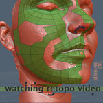 Retopology of human face in 3d coat, texture clean up in photoshop