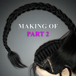 "Making of ""Scorpion hair"". Part 2. BraidMaker+Ornatrix. How to create braids?"