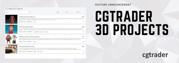 Introducing the new CGTrader 3D Projects platform for all freelance work