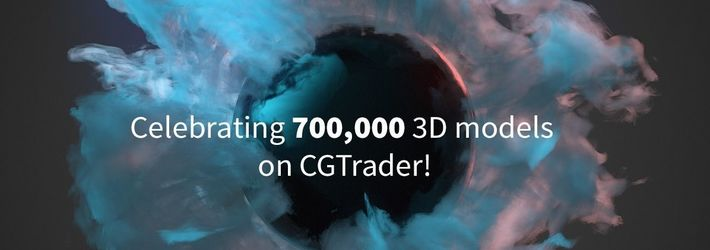 CGTrader's marketplace grows to 700,000 3D models – a fivefold increase in just 3 years!