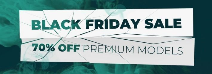 Unprecedented discounts on 3D models for Black Friday
