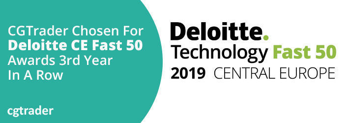 CGTrader Chosen For Deloitte CE Fast 50 Awards 3rd Year In A Row